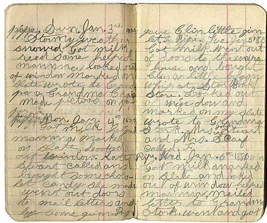 Florence Stork Written Diary