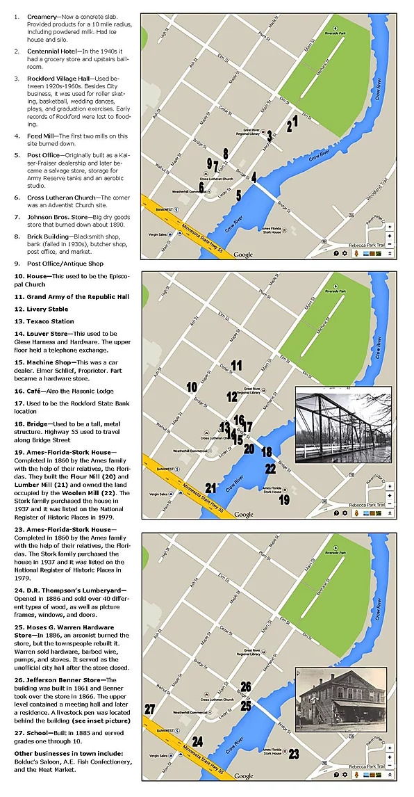 Rockford Walking Tour Map